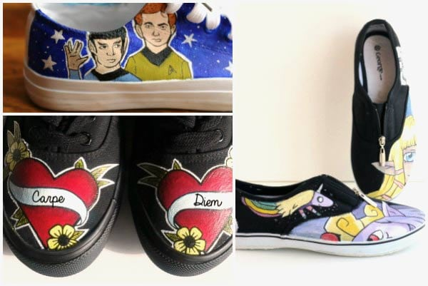 How to paint shoes: a beginner's guide for creating custom canvas shoes with acrylic paint. Make them for your friends or start a small business!
