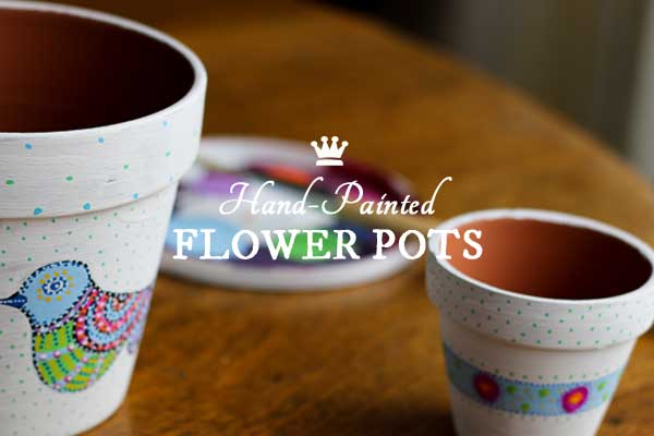 How to hand-paint decorative flower pots