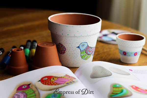 How to hand paint clay flower pots