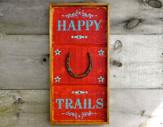 Happy Trails sign by CrowBarDSigns on Etsy