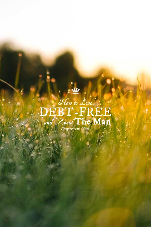 How to Live Debt-Free and Avoid the Man
