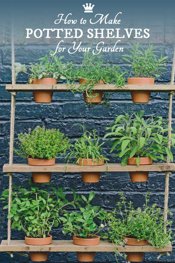 How to make hanging potted plant shelves for your garden