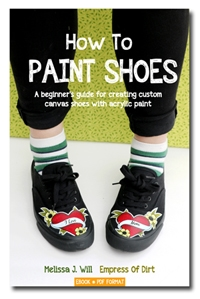 How to Paint Shoes by Melissa J Will | A beginner's guide for creating custom canvas shoes with acrylic paint.