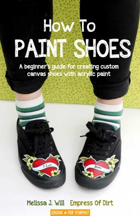 How to Paint Shoes by Melissa J. Will.