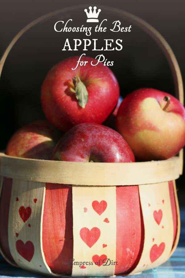 Homemade apple pies turn out the best when you choose the right apples! There's many different varieties and it's worthwhile to jot down the right types so your pie turns out perfectly (not too dry or too mushy). Happy baking!