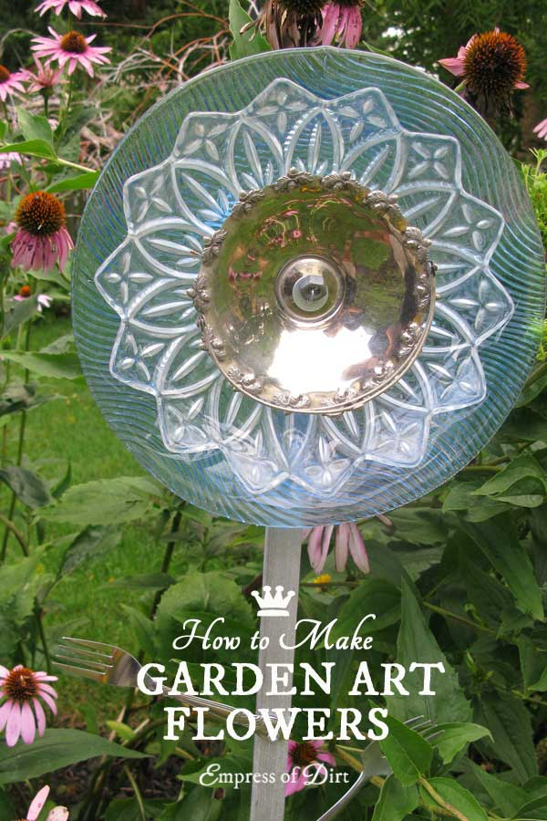 How To Make Glass Garden Art Flowers & Drill Through Glass