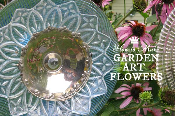 How to make garden art flowers