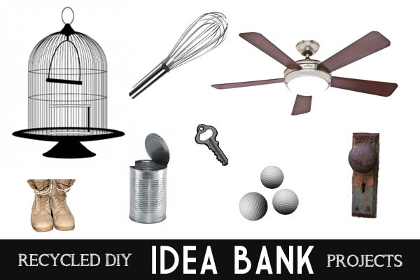 Want to make something cool? Recycled DIY and Craft Project Idea Bank - look up what you have and get ideas for stuff you can make