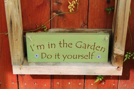 I'm in the garden—do it yourself by CraftedByGale on Etsy
