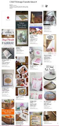 Image and photo transfer project ideas on Pinterest