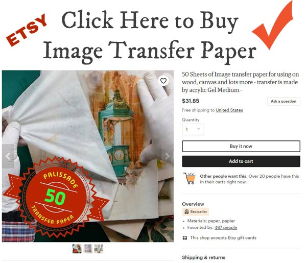 Image transfer paper
