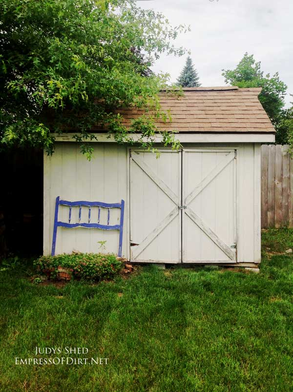 BEFORE See how Judy Jones turned this plain backyard shed into something beautiful.