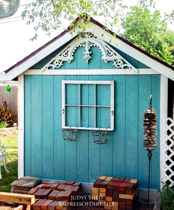 Thrifty Garden Shed Makeover Empress Of Dirt
