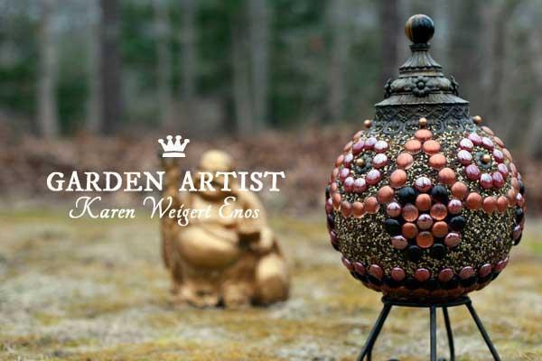 Garden art artist Karen Weigert Enos