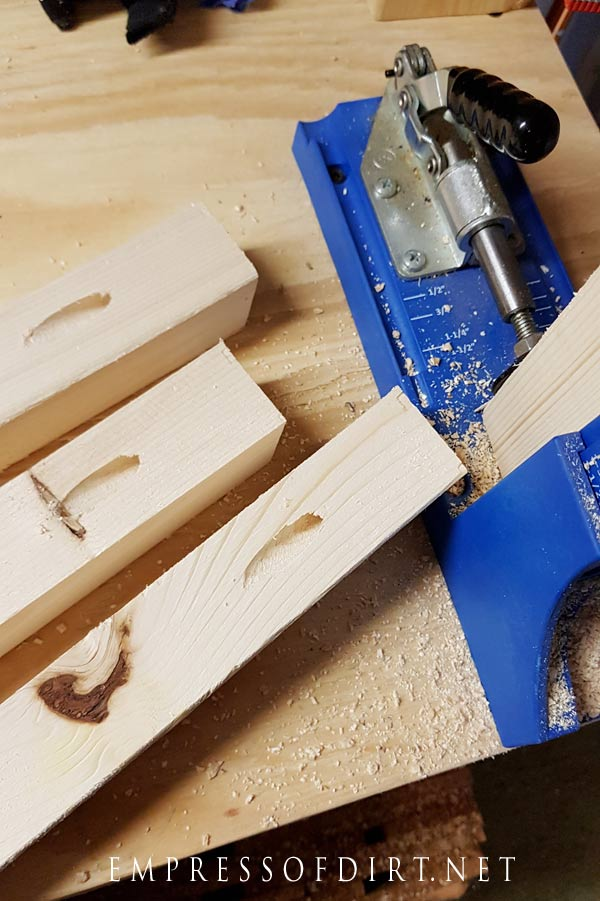 Use a Kreg jig tool to create hidden screw holes for a more finished look.