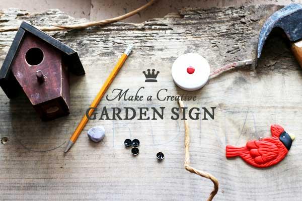 Make a creative garden sign