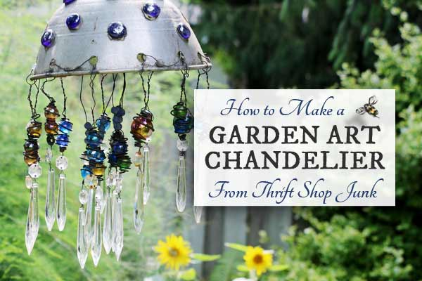 How to Make a Garden Art Chandelier