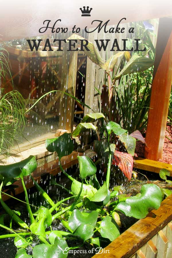 This water wall feature can be added to a container pond on a patio or in a backyard garden.