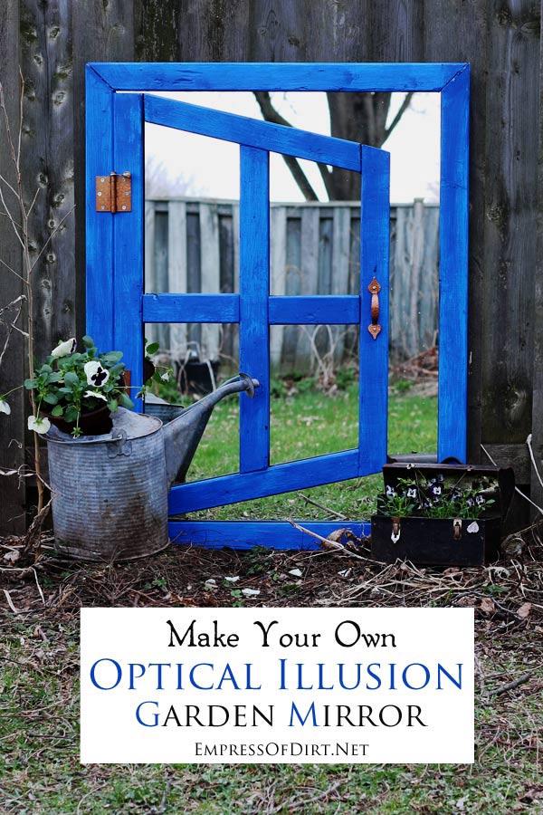 Diy Optical Illusion Mirror For Your Home Or Garden