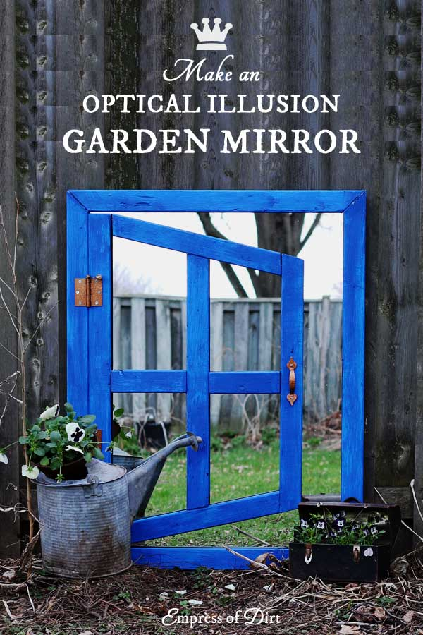 How to make an optical illusion garden art mirror