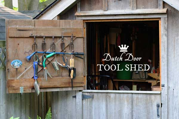 Dutch Door Tool Shed | Smart Garden Idea