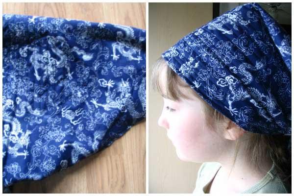 Make a sweat-absorbing garden scarf
