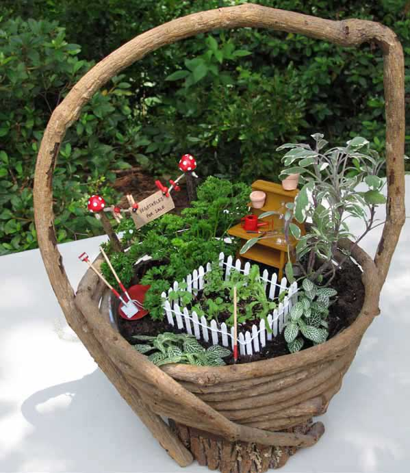 Make a fairy kitchen garden
