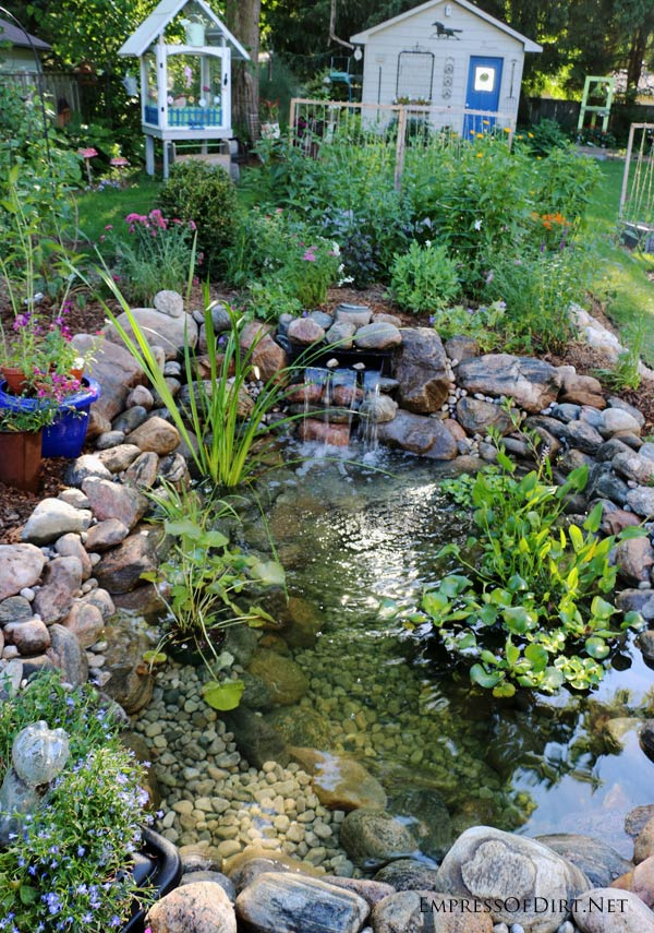 How to build a backyard garden pond empress of dirt for Garden pond building instructions