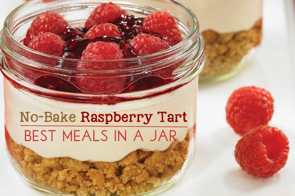 No-Bake Raspberry Tart | Best Meals in a Jar
