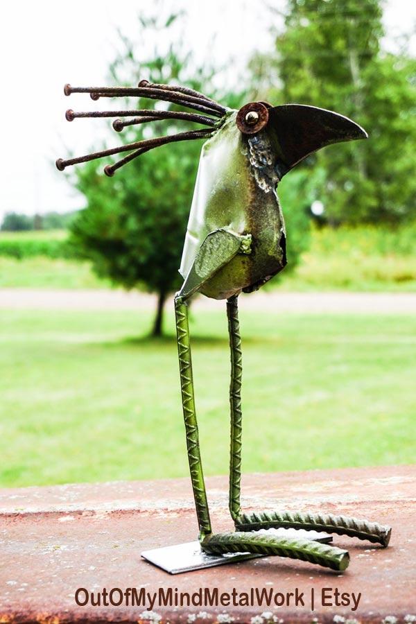 Garden junk bird.