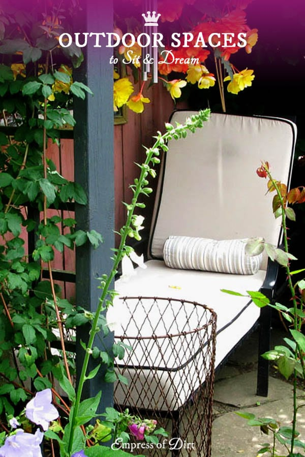 A comfortable place to relax is often the most important part of a garden.