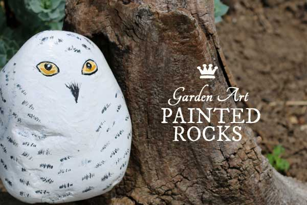 How to paint animal garden rocks