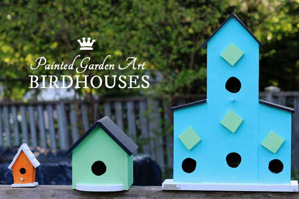 How to create colourful, hand-painted birdhouses for your garden