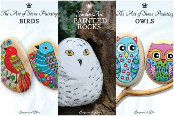 Paint rocks and stone to create animated garden art