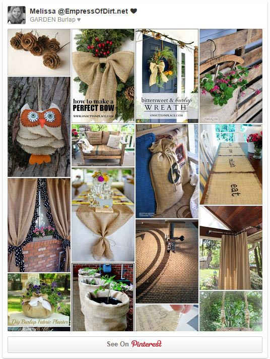 There's good reasons burlap is so popular in the garden. It's inexpensive, biodegradable, solves a variety of plant problems, and the natural texture of the jute fibers is undeniably gorgeous. Come see all of the practial uses plus lots of outdoor craft and décor ideas.