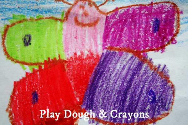 Make children's play dough and crayons in a slow cooker