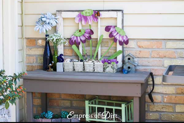 Garden potting bench idea gallery