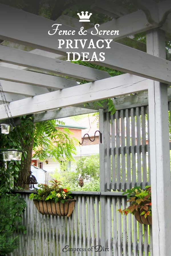 Garden Fence & Screen Privacy Ideas