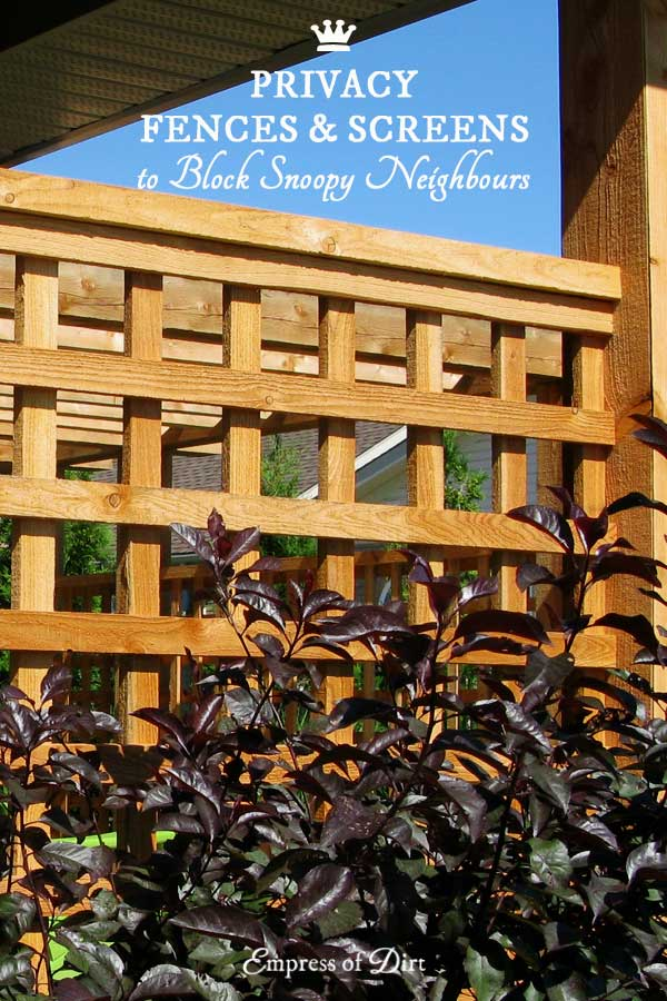 Privacy Fence Amp Screen Ideas For The Garden Empress Of Dirt