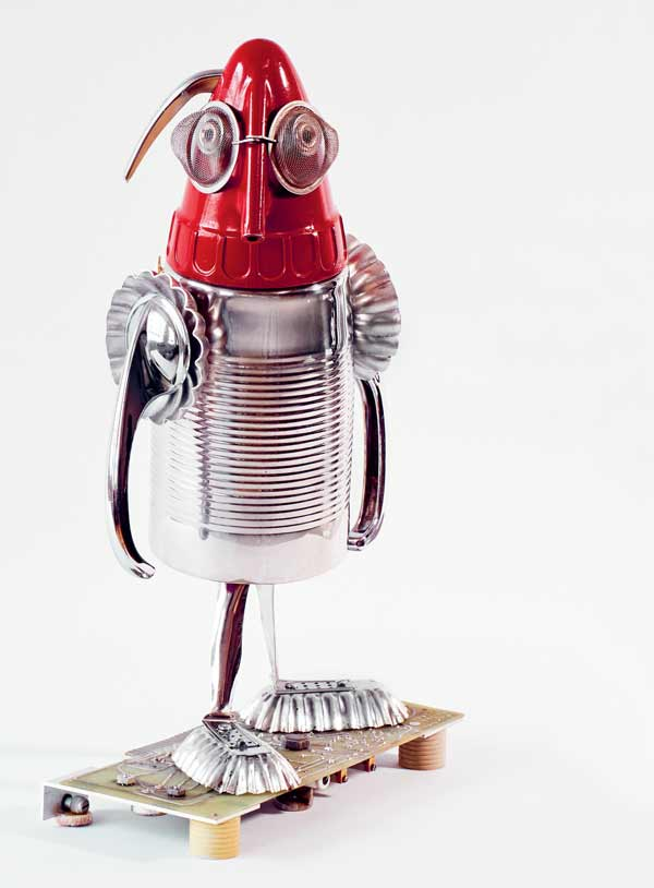 Rocket Man by Amy Knutson from the book, Assembled: Transform Everyday Objects Into Robots