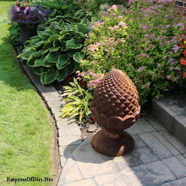Rusty pinecone art.