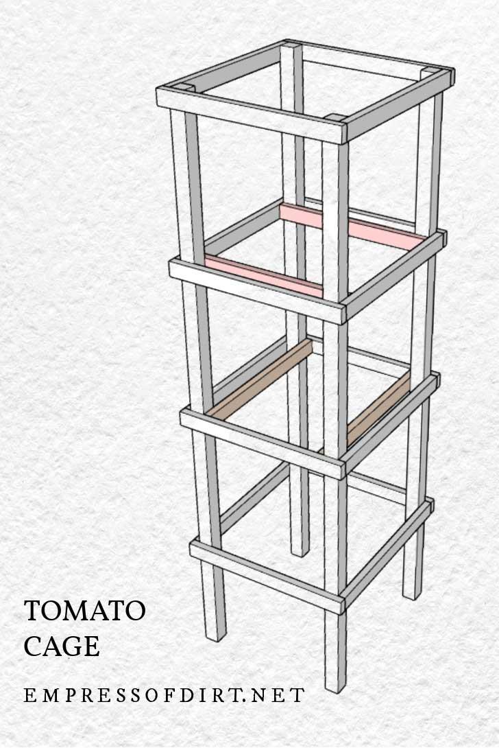 Tomato cage building plan.