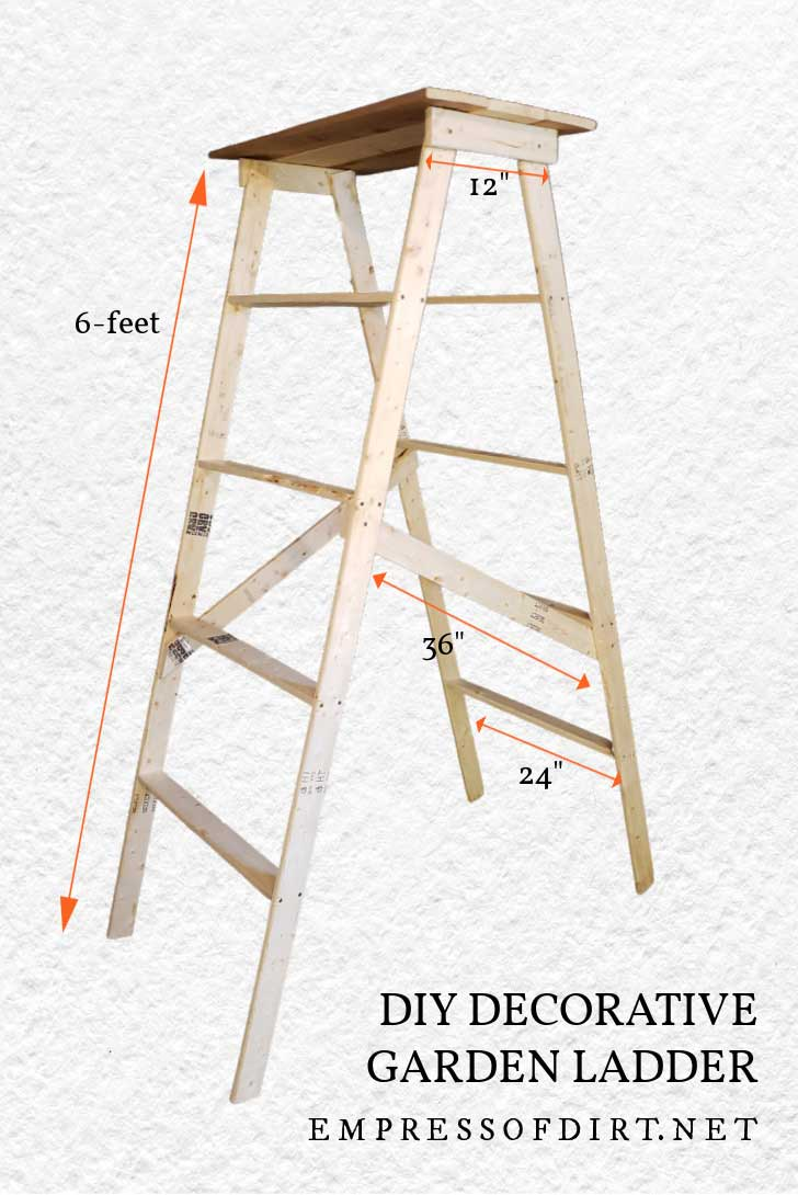 DIY garden art ladder building plan