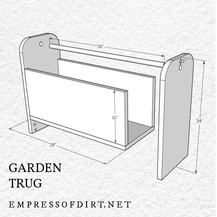 Wood garden trug building plan by Empress of Dirt