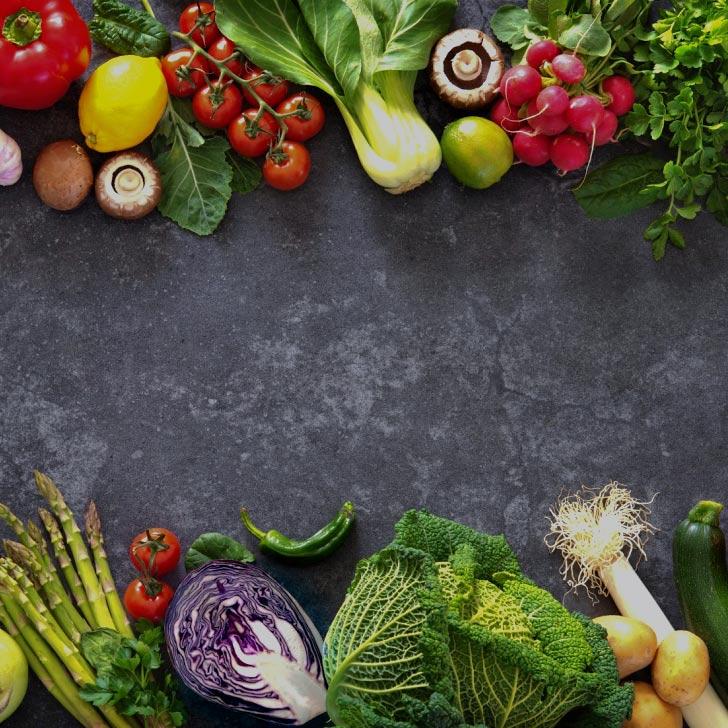 An assortment of freshly harvested vegetables.