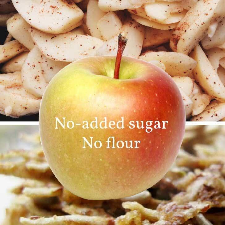 Unsweetened apple cookies.