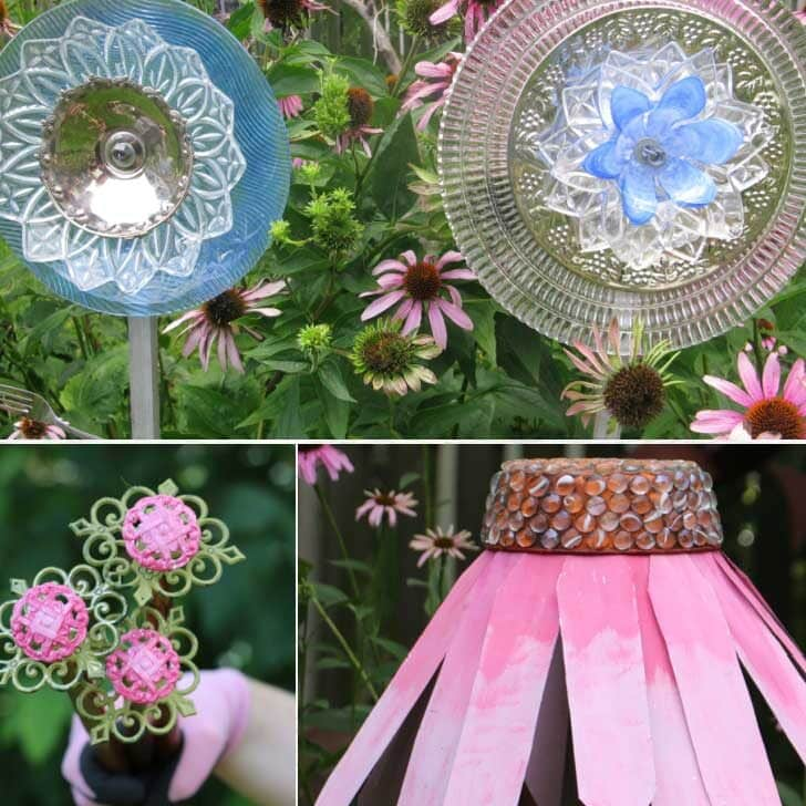 Decorative garden art flowers.