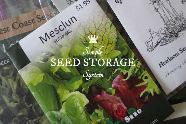 Simple Garden Seed Storage & Organization | Free Printable