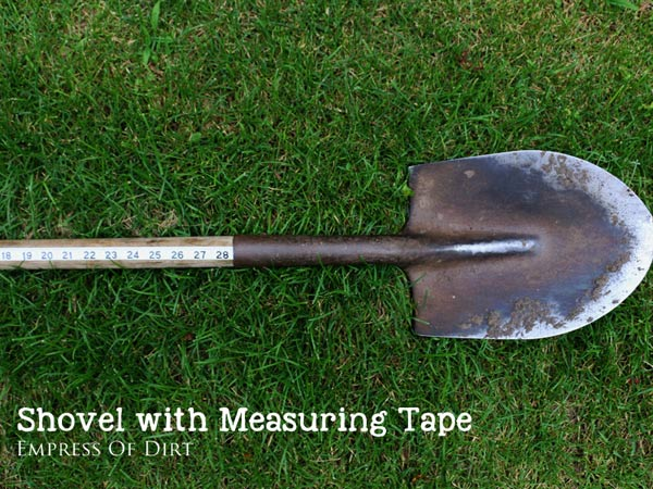 Shovel with Measuring Tape