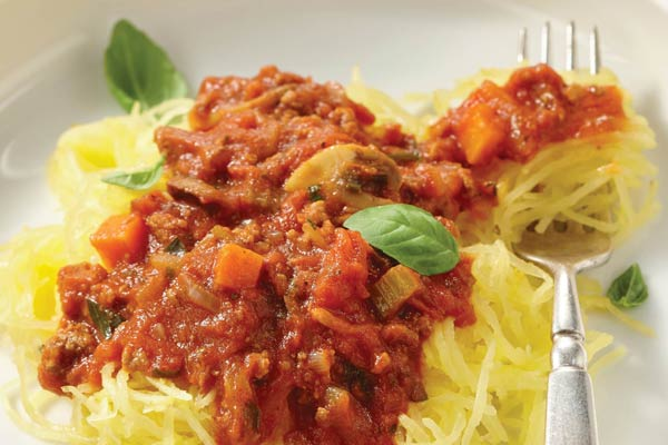 This paleo spaghetti squash bolognese recipe is part of a lifelong food plan for anyone concerned with blood sugar problems including predibetics, diabetics, or those wanting to follow a healthy, balanced diet.